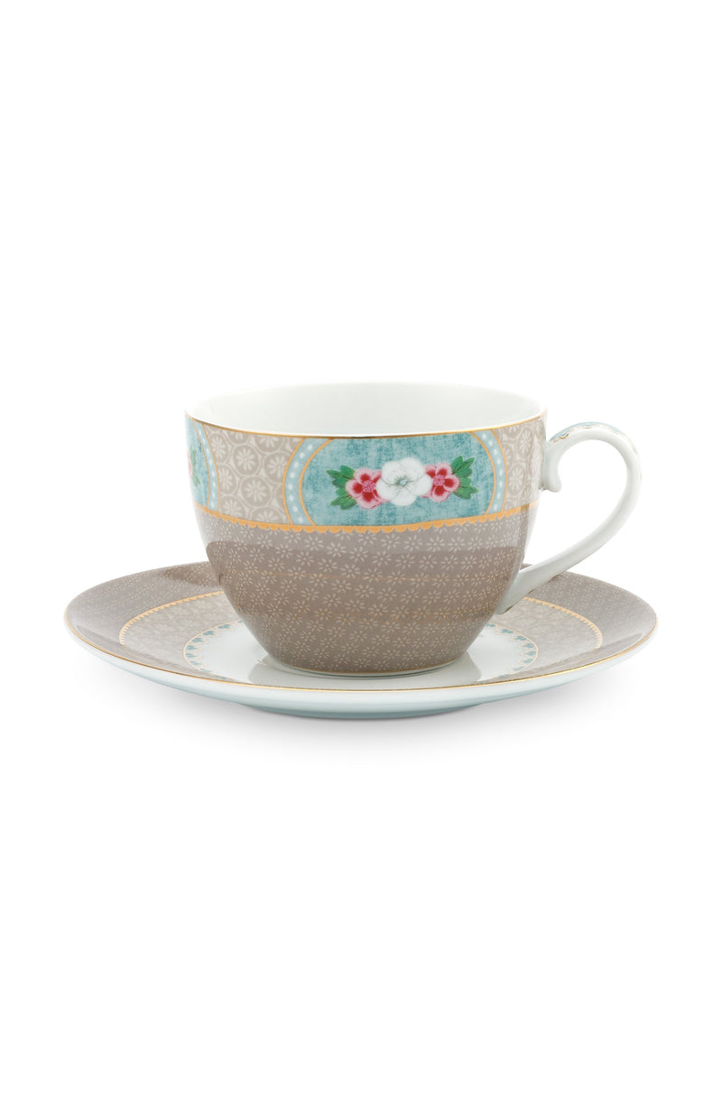Pip Studio Blushing Birds Khaki cup and saucer - Daisy Park