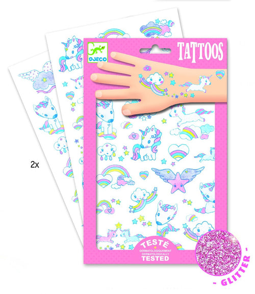 Djeco Unicorn tattoos - Daisy Park