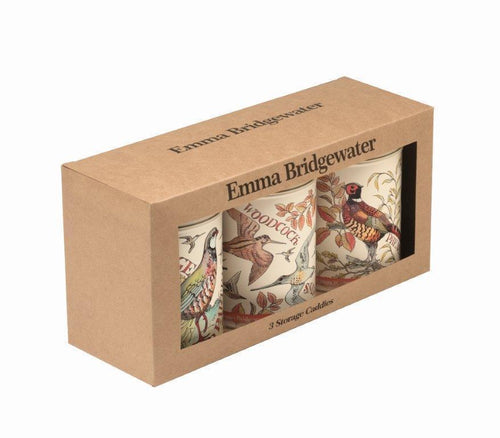 Emma Bridgewater Game Birds set of 3 caddies - Daisy Park