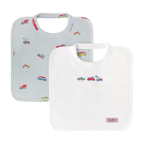Cath Kidston Spaced Garage Station baby square bibs 2 pack - Daisy Park