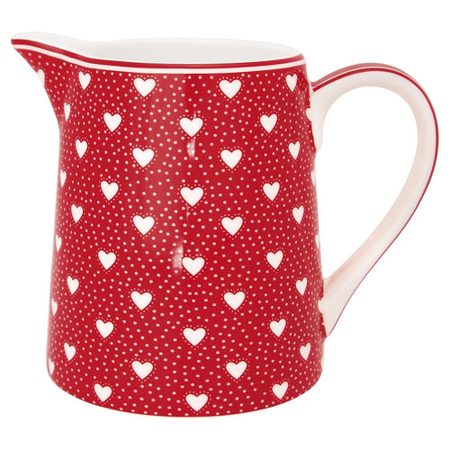Greengate Penny red jug - 0.5ltr - Daisy Park