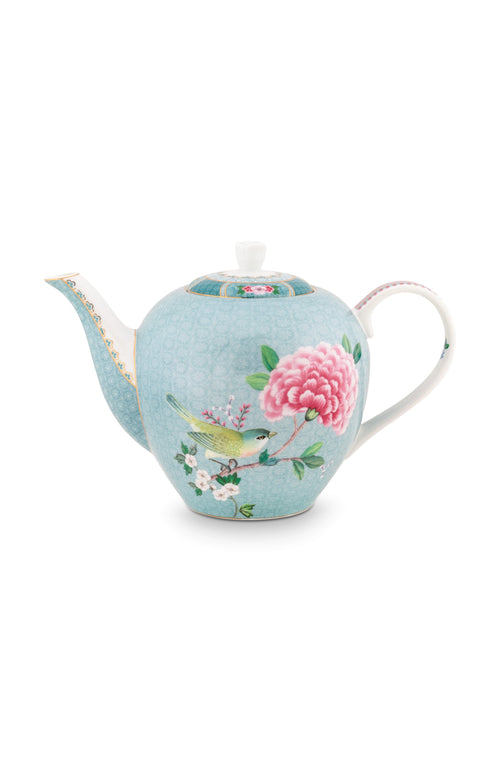 Pip Studio Blushing Birds large Blue teapot
