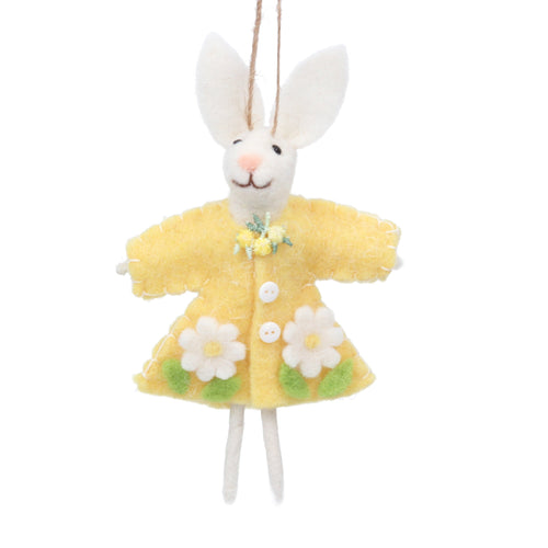 Wool rabbit in yellow dress decoration - Daisy Park