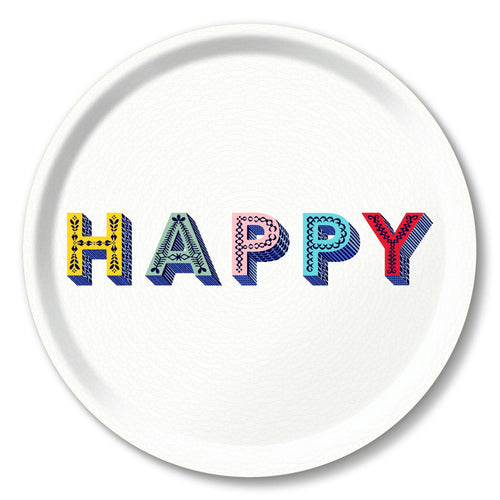 Asta Barrington Happy Multi Round Tray - Daisy Park