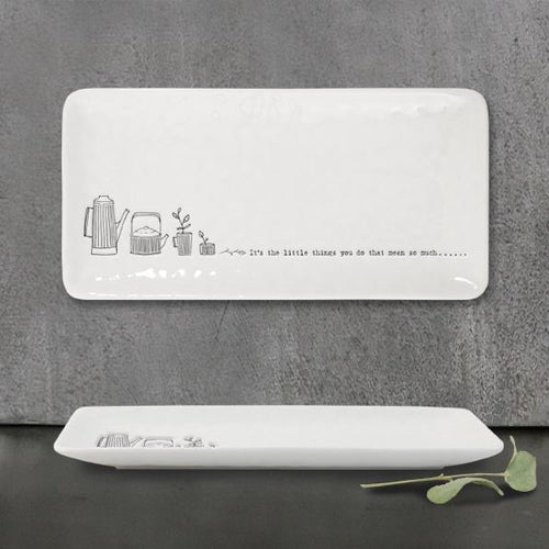 "Long Ceramic Trinket Dish  - 'It's the little things you do"" - Daisy Park"