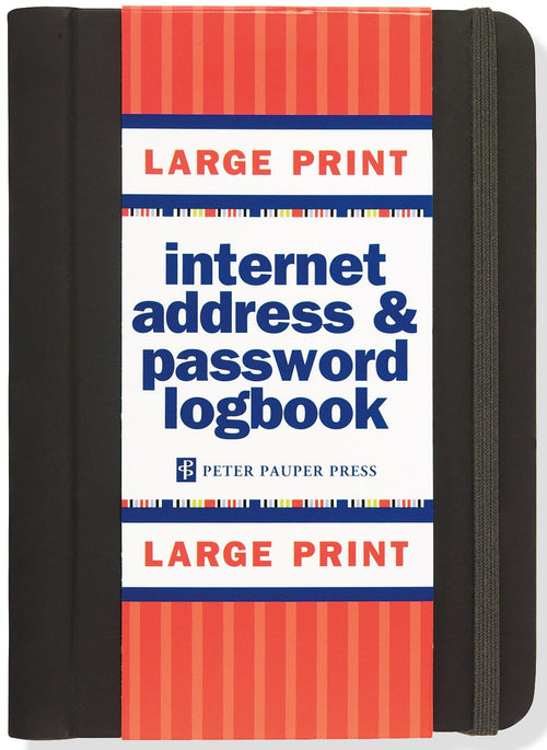 Large Print internet address & password book - Daisy Park