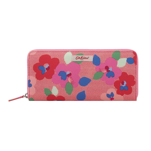 Cath Kidston Large Pansy Travel continental wallet - Daisy Park