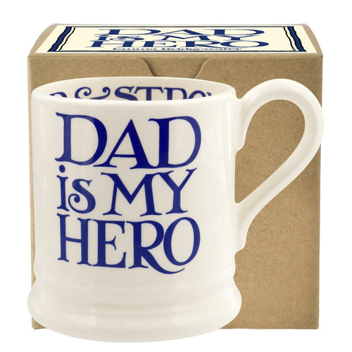 Emma Bridgewater Blue Toast Dad is my hero 1/2pt mug