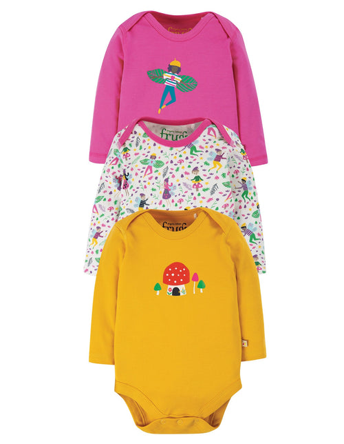 Frugi Fairy multipack long sleeved bodies - Daisy Park