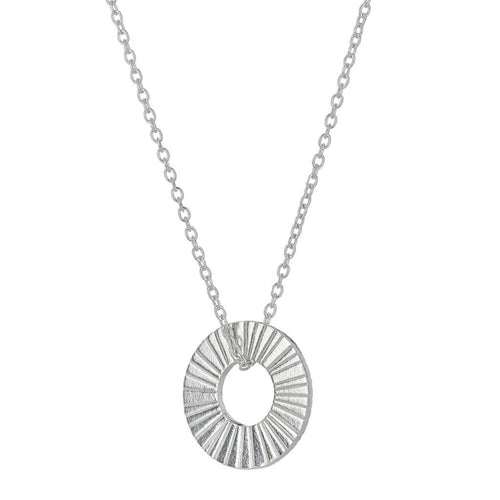 Silver Surfside Hoop Necklace - Daisy Park