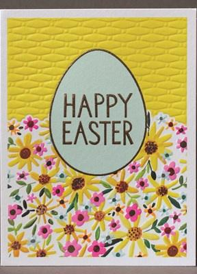 Happy Easter Egg Card - Daisy Park