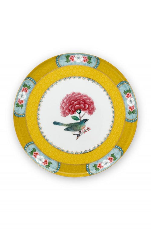 Pip Studio Blushing Birds Yellow 17cm pastry plate - Daisy Park