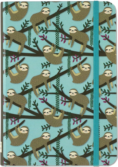 Small Journal Sloths Blue
