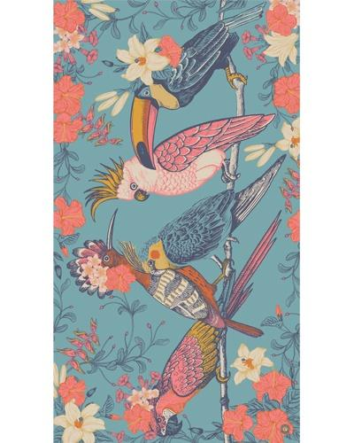 Tropical Birds printed scarf - Daisy Park