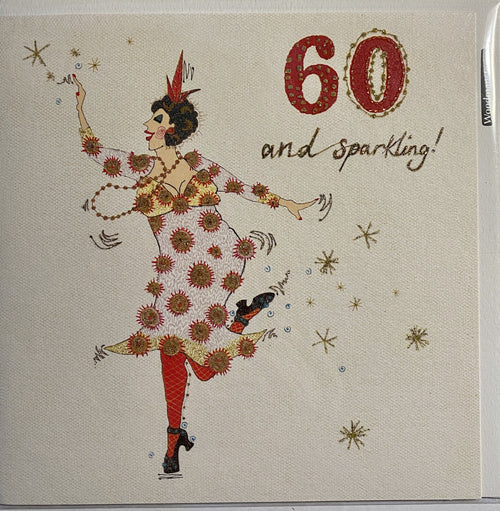 Age 60 and sparkling card - Daisy Park