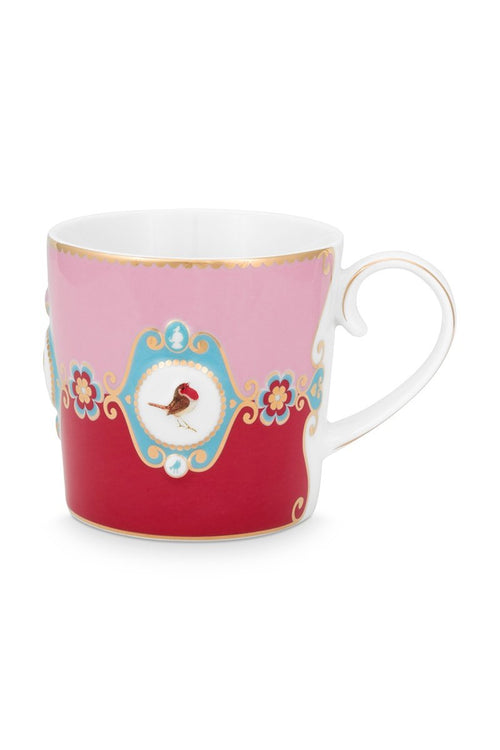 Pip Studio Love Birds Red pink medallion mug