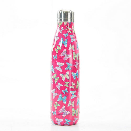 Eco Chic Fuchsia Butterfly Thermal bottle - Daisy Park