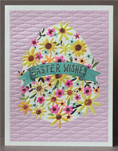 Easter Wishes Egg Card - Daisy Park