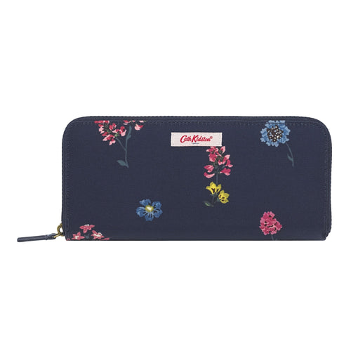 Cath Kidston Twilight Sprig travel continental wallet - Daisy Park