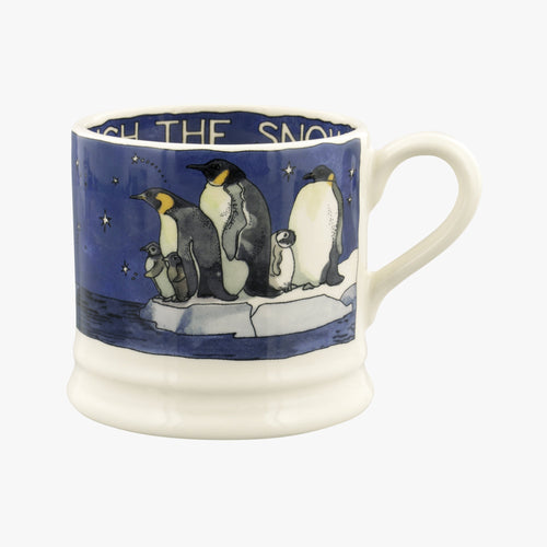 Emma Bridgewater Winter penguins small mug - Daisy Park
