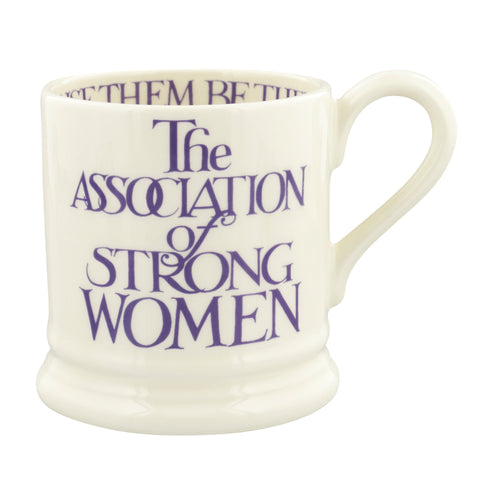 Emma Bridgewater Purple Toast Strong Women 1/2 Pint Mug - Daisy Park