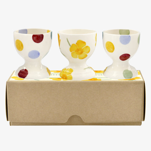 Emma Bridgewater scattered Buttercups set of 3 egg cups - Daisy Park