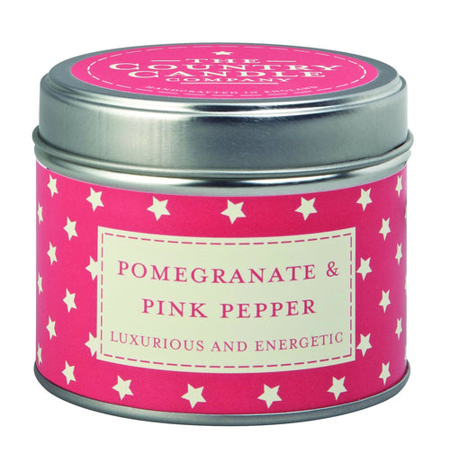 The Country Candle Pomegranate & Pink pepper candle tin - Daisy Park