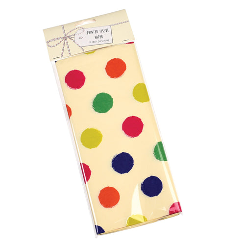 Spotty celebration tissue paper