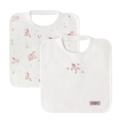 Cath Kidston Spaced Unicorn meadow baby square bibs 2 pack - Daisy Park