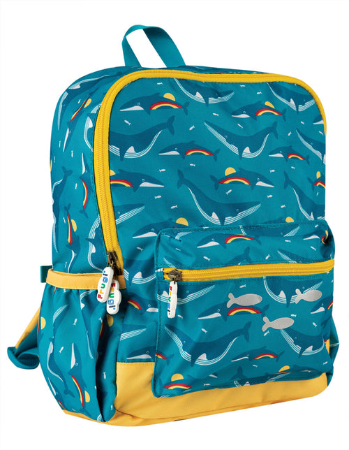 Frugi Rainbow Whales adventurers backpack - Daisy Park