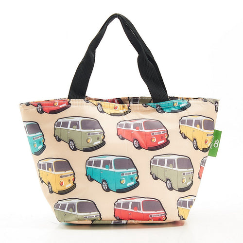 Eco Chic Campervan or  Mini Lightweight Foldable lunch bag. - Daisy Park