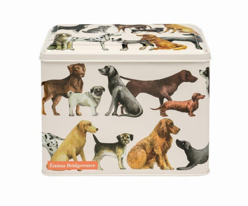 Emma Bridgewater Dogs extra large rectangular tin - Daisy Park