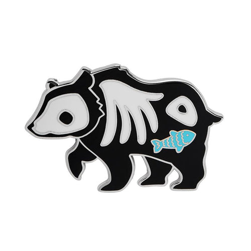 Grizzly Gruesome Enamel Pin - Daisy Park