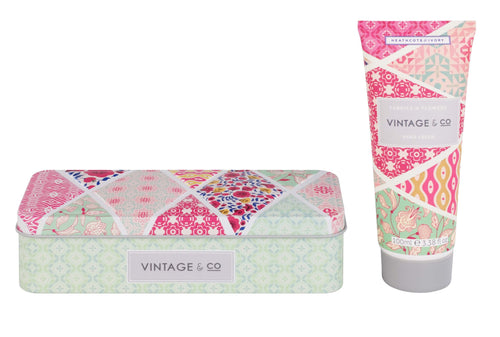 Vintage & Co Fabric & Flowers hand cream in tin - Daisy Park