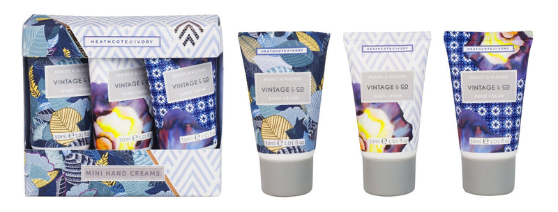 Vintage & Co Braids & Blooms mini hand cream trio set - Daisy Park