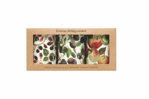Emma Bridgewater Apple set of 3 caddies - Daisy Park