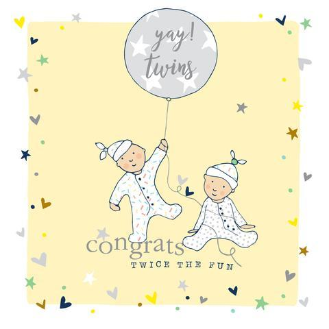 New Baby Twins Card - Daisy Park