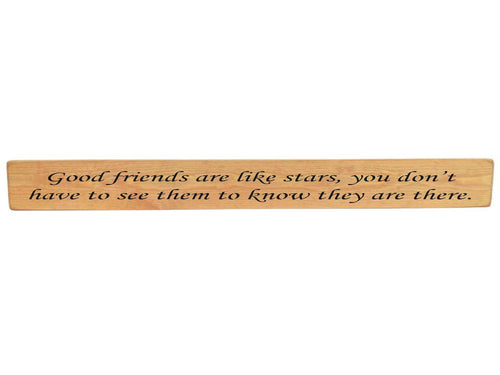 Good Friends Are Like Stars wooden sign - Daisy Park