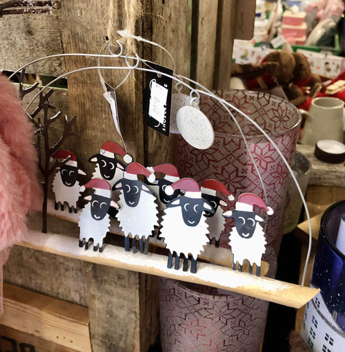 Winter Woolly four sheep Christmas Decoration - Daisy Park