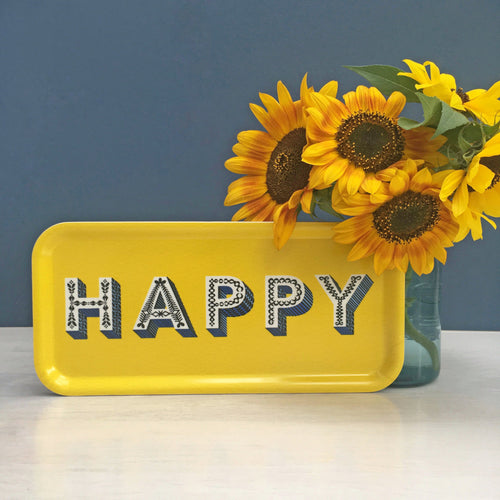 Asta Barrington Happy yellow long tray - Daisy Park
