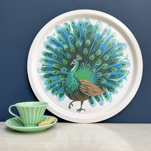 Asta Barrington Peacock light round tray