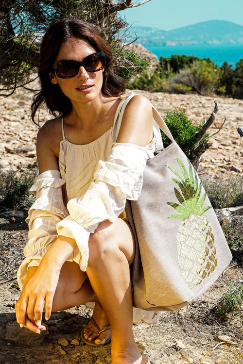 Boho Pineapple bag - Stone - Daisy Park
