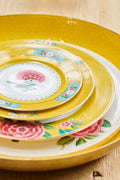 Pip Studio Blushing Birds Yellow 26.5cm plate - Daisy Park