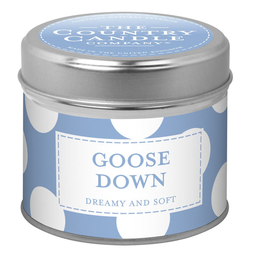 The Country Candle Goose Down Xxl Dot candle tin
