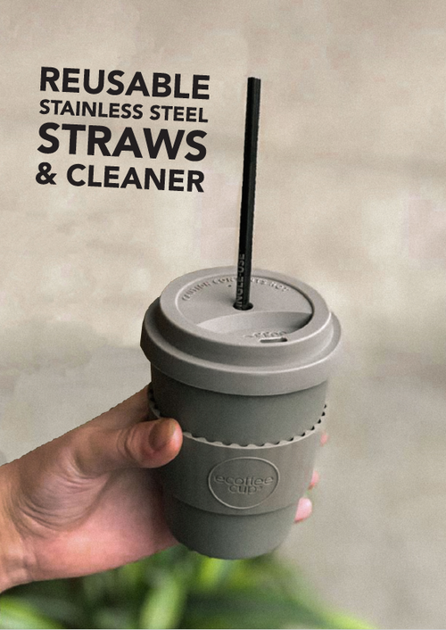 eCoffee metal straw pack