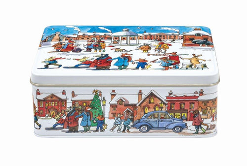 Emma Bridgewater Winter scene rectangular tin - Daisy Park