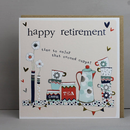 Happy Retirement card - Daisy Park