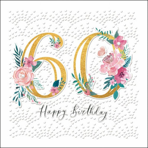 60th flowers card - Daisy Park