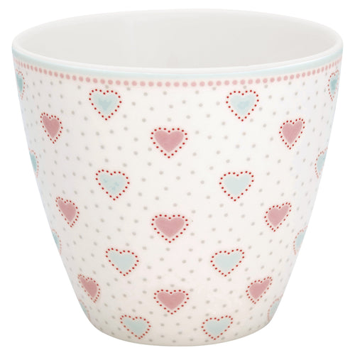 Greengate Penny white latte cup - Daisy Park