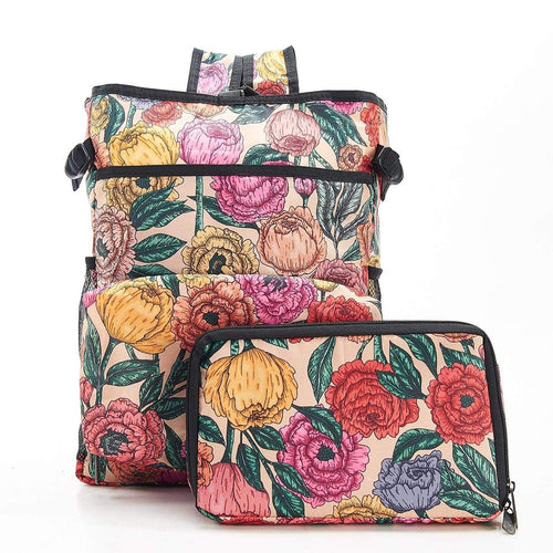 Eco Chic Beige Peonies Cool Backpack - Daisy Park